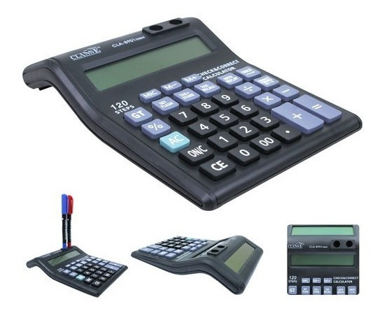Calculadora De Mesa Eletrônica Com 12 Dígitos E 2 Visores