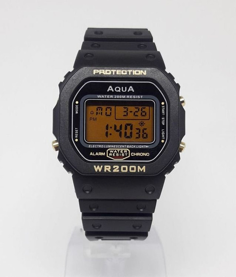 Relógio Masculino Bolsonaro Digital Aqua #prova D