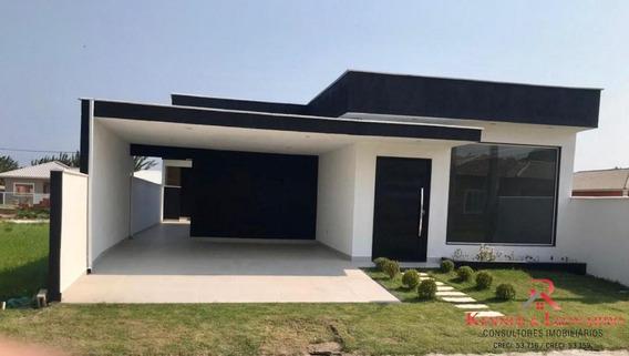 Casa De Condomínio Itaipuaçu, 3 Quartos, Piscina E Churrasqueira - 490