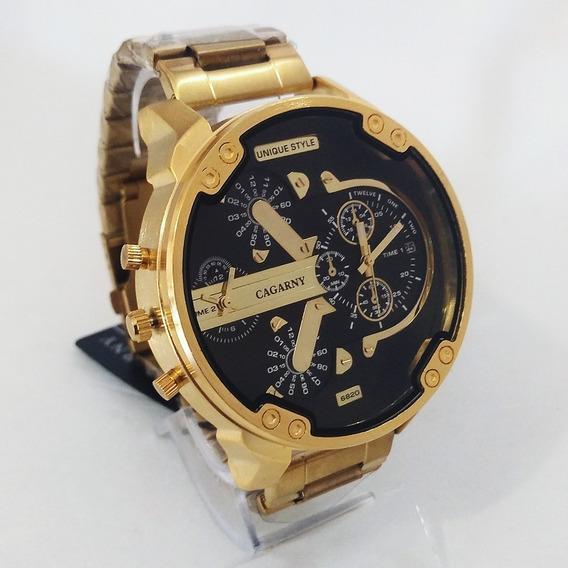 Relógio Masculino Cargany 6820 Grande Original Estilo Diesel