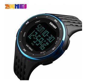 Relógio Masculino Skmei 1219 Esportivo Original Led Promoção