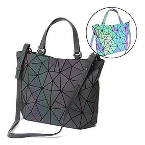 Bolso Cambia Color Geometrico Luminoso Holografico Original
