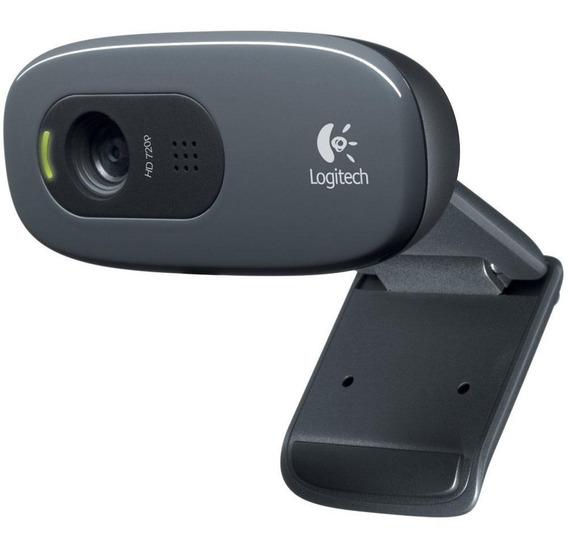 Câmera Webcam Logitech C270 Hd 720p Com Microfone