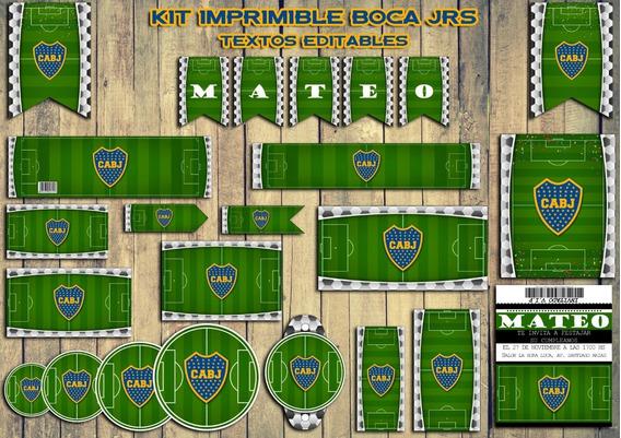 Kit Imprimible Boca Juniors - Textos Editables