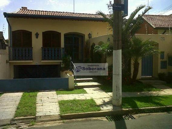 Casa Com 4 Dormitórios Para Alugar, 378 M² Por R$ 5.700/mês - Jardim Nossa Senhora Auxiliadora - Campinas/sp - Ca3409