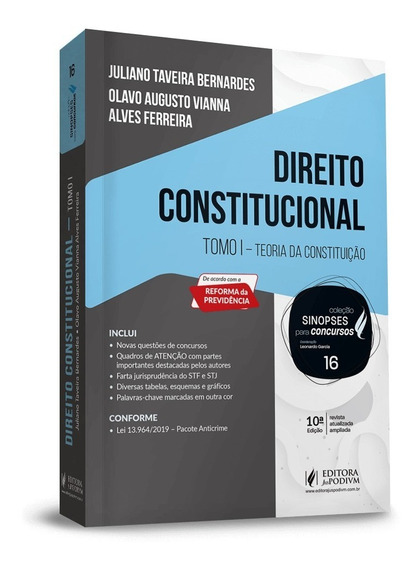 Sinopses Para Concursos - Direito Constitucional - Tomo 1