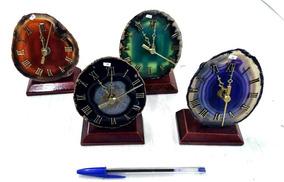 Relógio De Agata Pedra Semi Preciosa Equilibrio Vitalidade