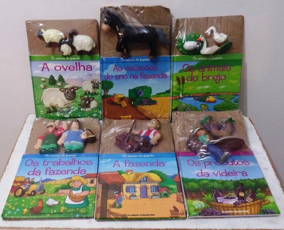 Coleção 6 Livros Miniaturas Animais Da Fazenda D
