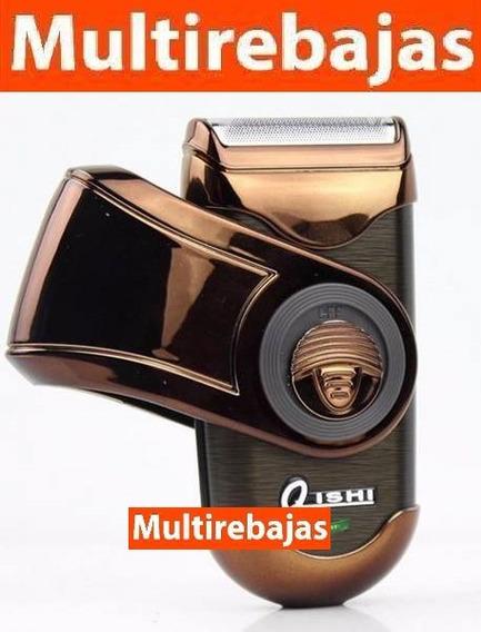 Máquina De Afeitar Recargable Dorada