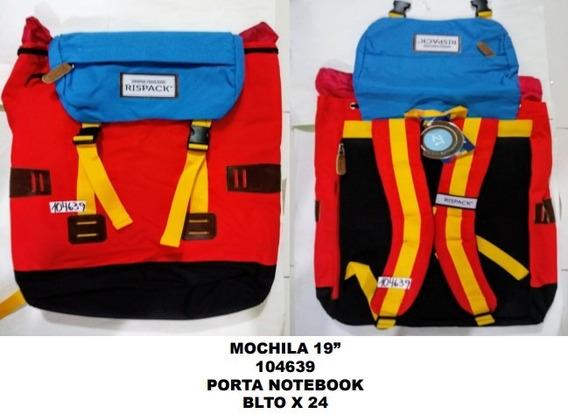 Mochila Reforzada Num 19 Porta Notebook