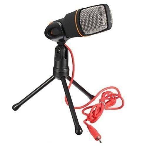 Microfone Condensador Com Tripé - Ideal Para Youtubers