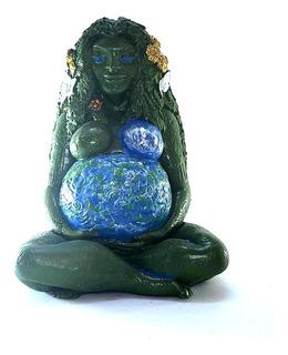 Gaia Mãe Terra Colorida Deusa 17cm