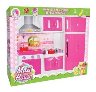 Cozinha Infantil Maxi House Fogão Acessórios 701 Lua Cristal