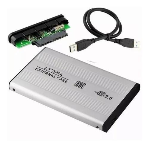 Imagen 1 de 2 de Case De Disco Duro Externo 2.5 Laptop A Dd Aluminio Usb