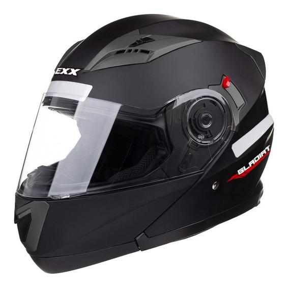 Capacete para moto escamoteável Texx Gladiator preto-fosco S