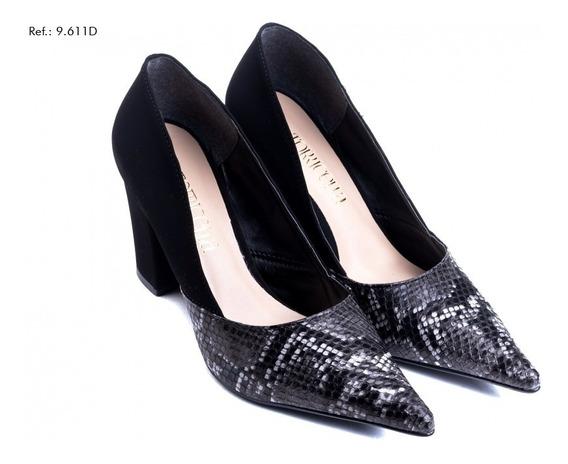 Sapato Feminino Scarpin Torricella Com Bico Cobra (4 Cores)