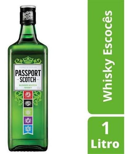 Imagem 1 de 2 de Whisky Passport 1 Litro