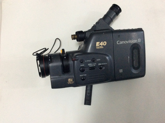 Filmadora Canon E40 Canovision 8 Model E40 Sucata Leia Abaix