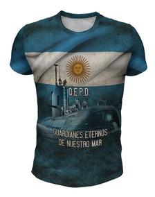 Remera Homenaje Al Submarino Y Los Caídos Del Ara San Juan