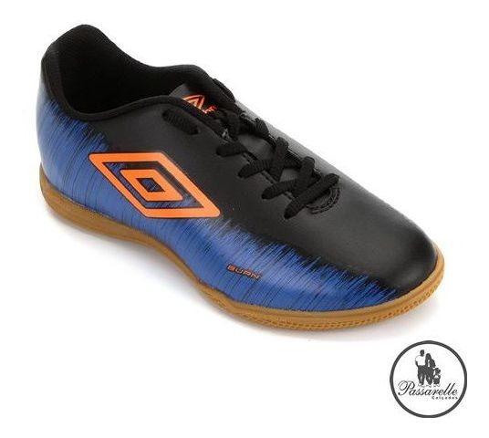 Chuteira Futsal Indoor Umbro Footwear Burn - Marinho/laranja
