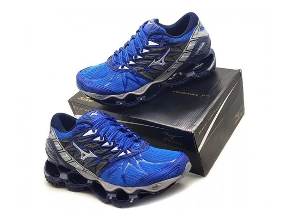 Tenis Mizuno Masculino Wave Pro 7 Sky Medal Eagle Dynasty Am