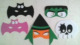 Antifaces Halloween Pack X 10 Unidades Souvenirs