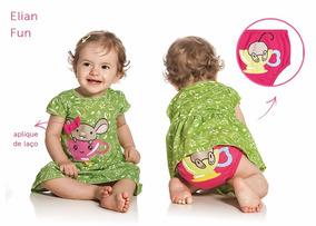 Vestido Bebê Elian Fun Com Calcinha Tamanho 02