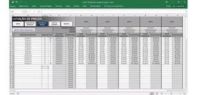 Planilha De Cotação De Preços - Frete Grátis - Acx11