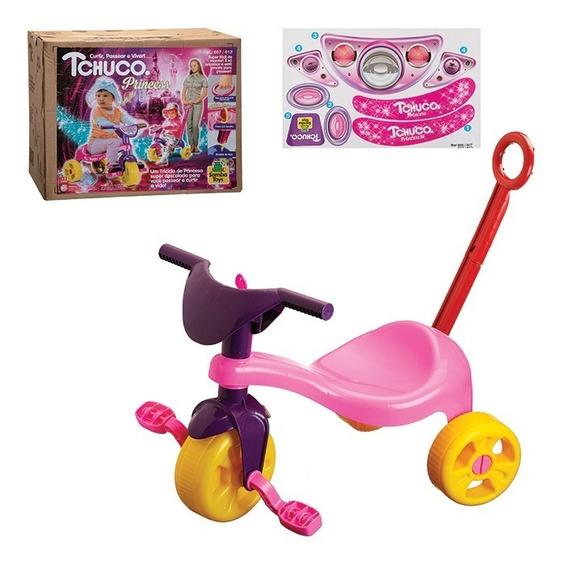 Triciclo Empurrar Tico Motoca Velotrol Infantil Várias Cores