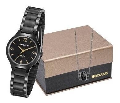 Kit Relógio Seculus Feminino 77017lpsvpa2k1 Nota Fiscal