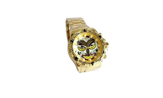 Relógio De Pulso Masculino Dourado Coringa Promoção