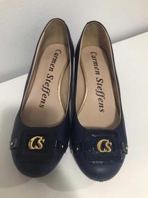 Sapato Carmem Steffens 35 Azul