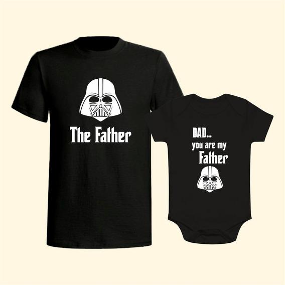 Kit Camiseta Tal Pai Tal Filho (a) Star Wars Darth Vader