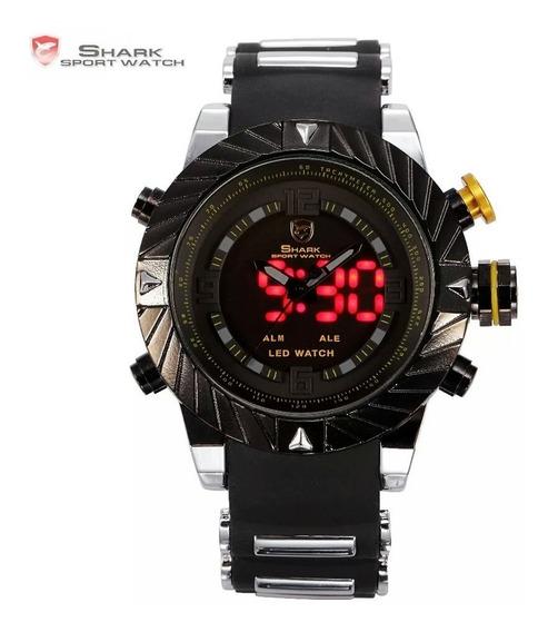 Relógio Shark Tubarão Led Digital Multifucional Original