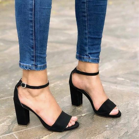 Zapatos De Moda Sandalia Alta Tacón Negro Para Mujeres Moda