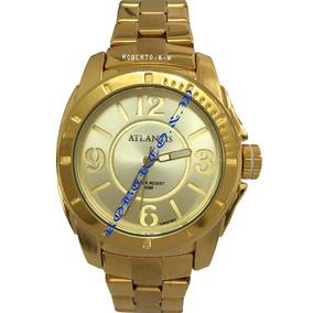 Relógio Feminino Luxo Original Atlantis Dourado + Caixinha
