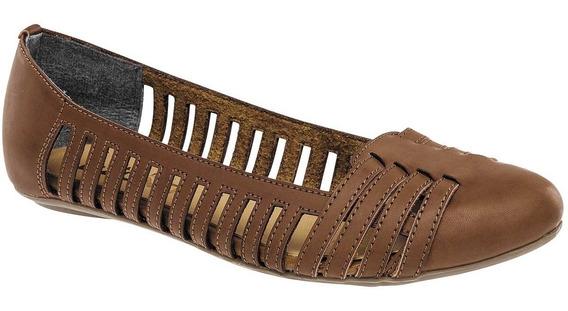 Zapato De Piso Dama Capa De Ozono 349103-2 22-27 Camel T4