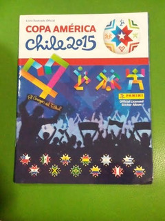 Álbum Copa América 2015 Capa Mole Vazio Defeito Contra-capa