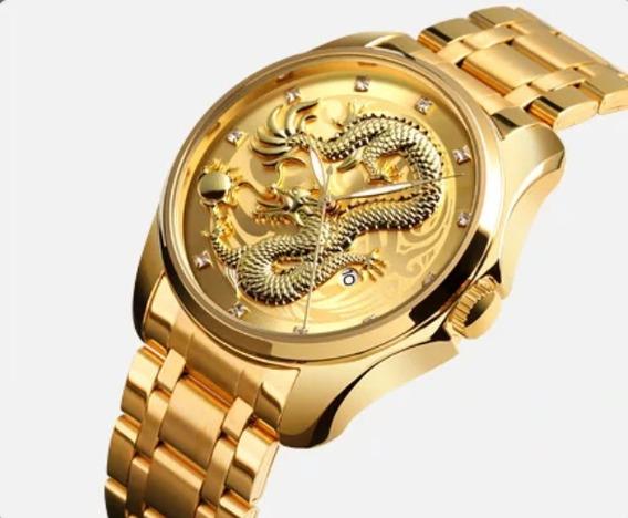 Relógio Masculino Aço Inoxidável Luxo Prova D