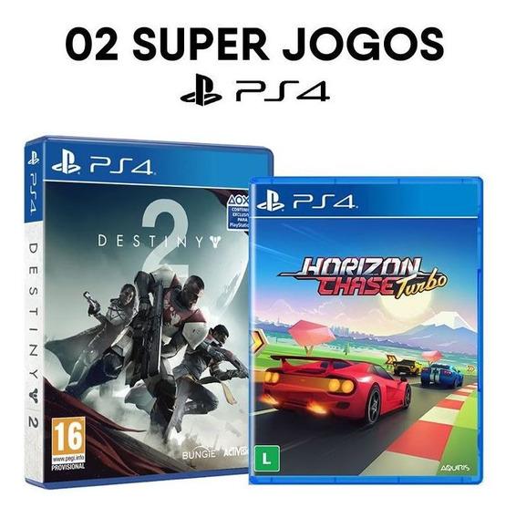 Destiny 2 + Horizon Chase - Ps4 - Mídia Física E Original