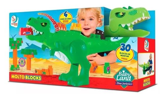 Brinquedo Para Bebês Baby Land Jurassic C/ 30 Blocos Cardoso