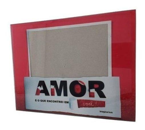 Porta Retrato Quadro Fotos Amor Imaginarium 22x17cm Namorado