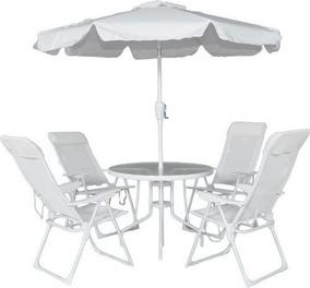 Conjunto Jardim Monaco Com 4 Cadeiras Belfix