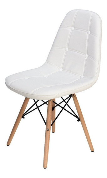 Cadeira Design Botonê Para Penteadeira Escrivaninha Branco