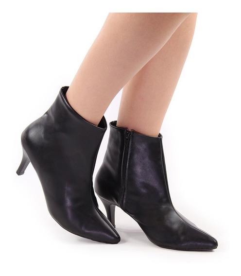Bota Sapato Feminina Cano Curto