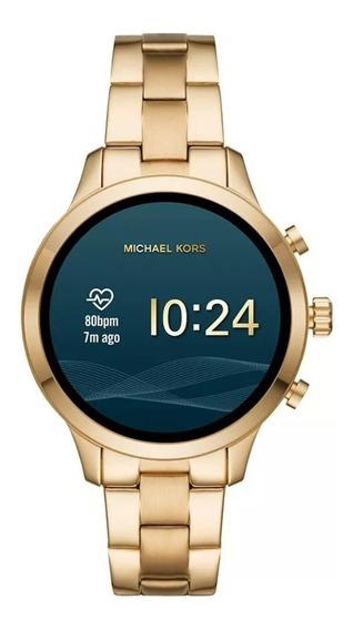 Relógio Digital Michael Kors Access Runway Mkt5045 Dourado