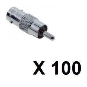 Genérico Rca-bncx100 Bolsa X 100 Adaptadores Rca Macho A Bnc