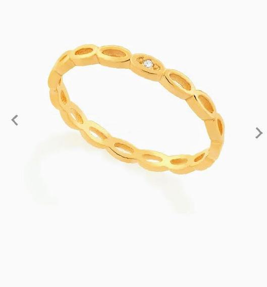 Aliança Folheado Ouro Rommanel 512507