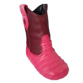 Bota Infantil Baby Couro Legítimo Pink Mexicana 1240-3
