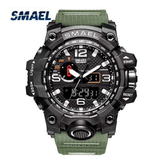 Relógio Smael 1545 Verde Top A Prova D